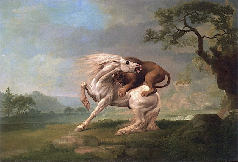 Lion Attacking a Horse | George Stubbs | oil painting