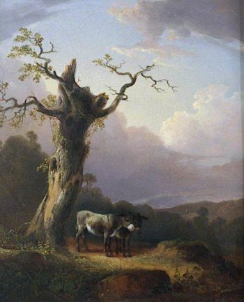 Donkeys in Landscape | William Shayer Snr | oil painting