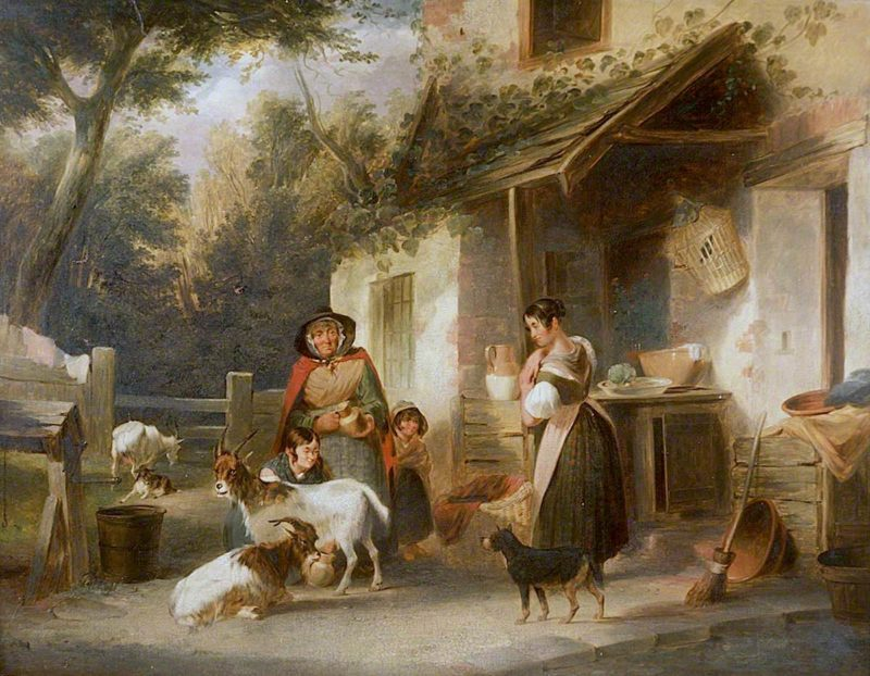Farm Scene | William Shayer Snr | oil painting