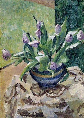 Tulips   Frederick James Porter   oil painting