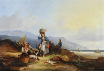 Fisher Folk | William Shayer Snr | oil painting