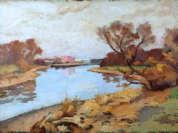 Landscape with River | Frederick James Porter | oil painting