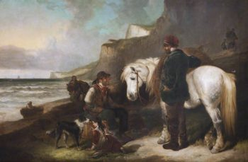 Fisherfolk | William Shayer Snr | oil painting