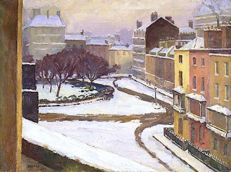 Snow in Hanover Square