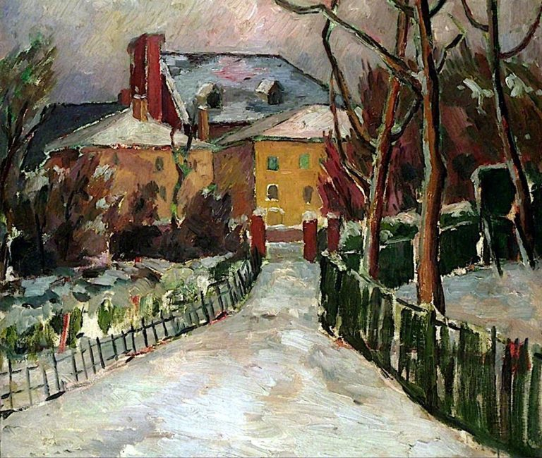 Landscape under Snow | Frederick James Porter | oil painting