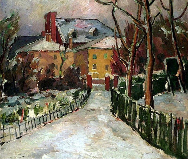 Landscape under Snow   Frederick James Porter   oil painting