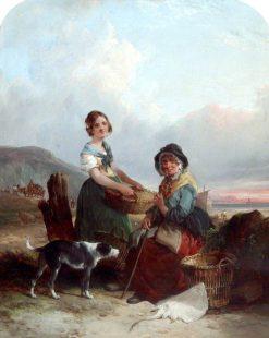 Fisherwomen | William Shayer Snr | oil painting