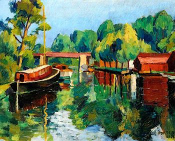 River Scene | Frederick James Porter | oil painting