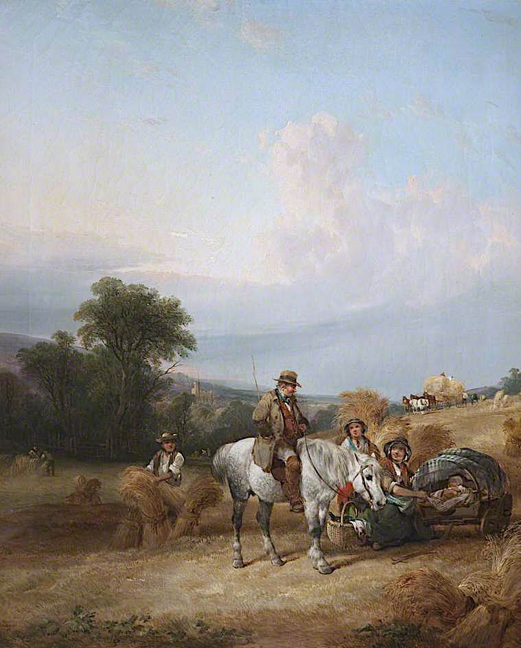Harvest Time | William Shayer Snr | oil painting