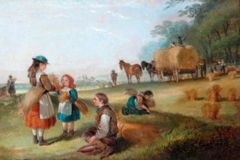 Harvesting | William Shayer Snr | oil painting