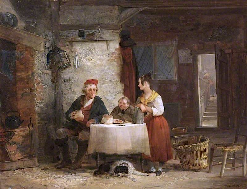 Interior of a Fishermans Cottage   William Shayer Snr   oil painting
