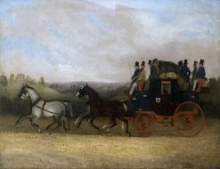 Kershaws Hitchin Coach | William Shayer Snr | oil painting