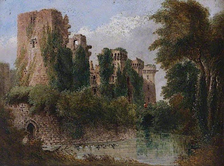 Raglan Castle | Joseph Murray Ince | oil painting