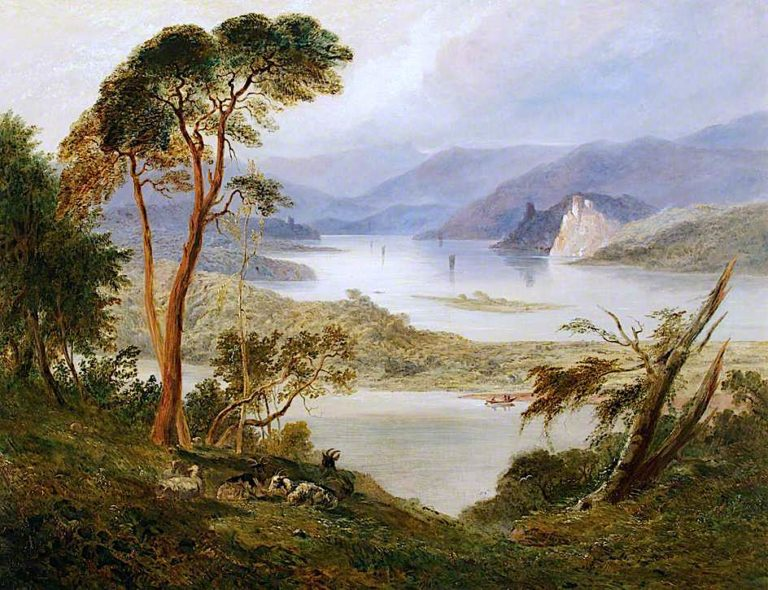 Landscape with Lake; Oberwesel with Schonburg Castle