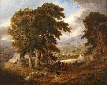 Lake near Dolgelly on the Barmouth Road | Joseph Murray Ince | oil painting