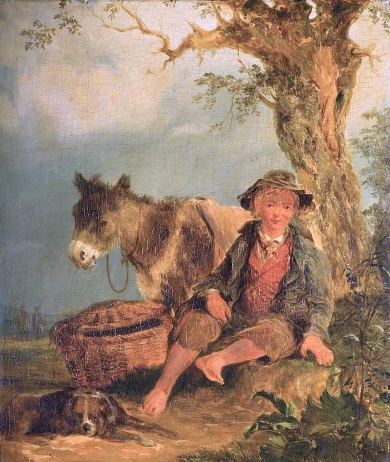 Landscape with a Boy and Donkey | William Shayer Snr | oil painting