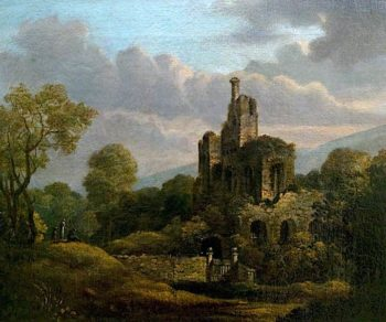 Landscape with a Ruined Castle | William Shayer Snr | oil painting