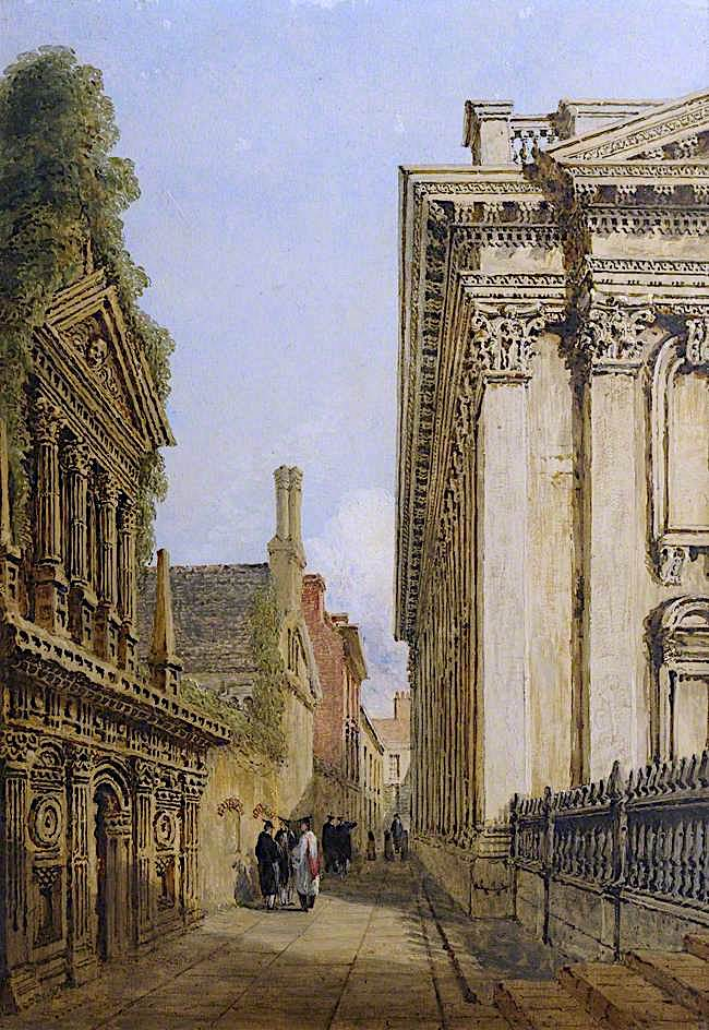 Senate House Passage | Joseph Murray Ince | oil painting