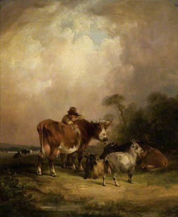 Landscape with Cattle | William Shayer Snr | oil painting