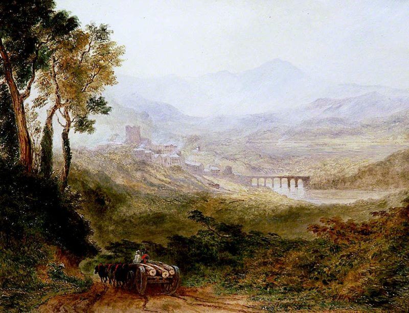 Hay - on - Wye and the Brecon Beacons | Joseph Murray Ince | oil painting