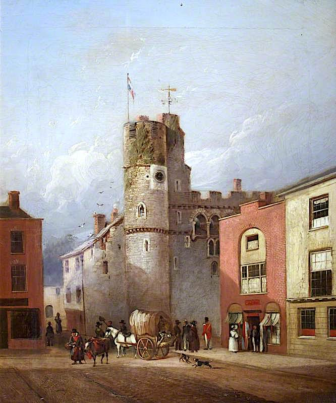 Swansea Castle | Joseph Murray Ince | oil painting