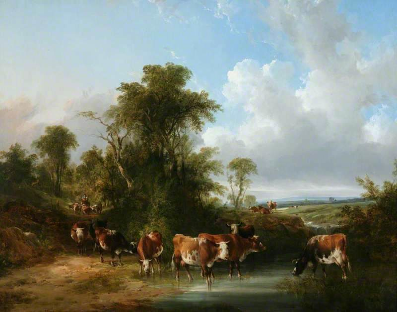 Landscape with Cattle by a Stream | William Shayer Snr | oil painting