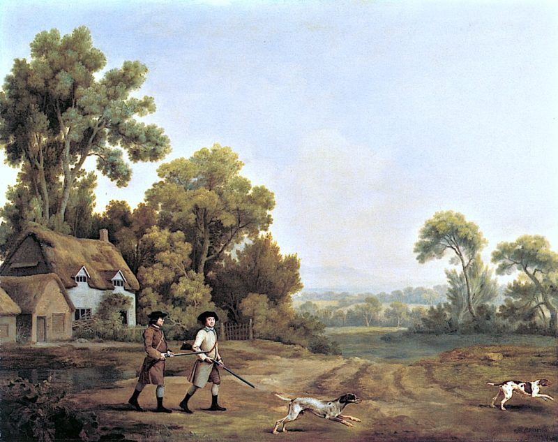 Two Gentlemen Going a Shooting   George Stubbs   oil painting