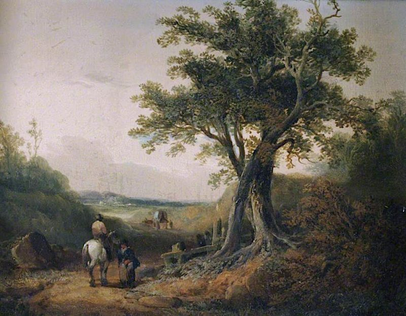 Landscape with Travellers on a Road | William Shayer Snr | oil painting