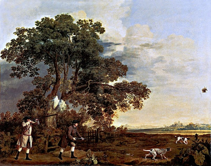 Two Gentlemen Shooting   George Stubbs   oil painting