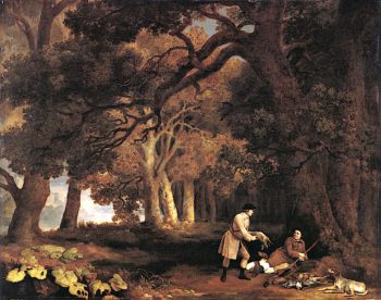A Repose after Shooting | George Stubbs | oil painting