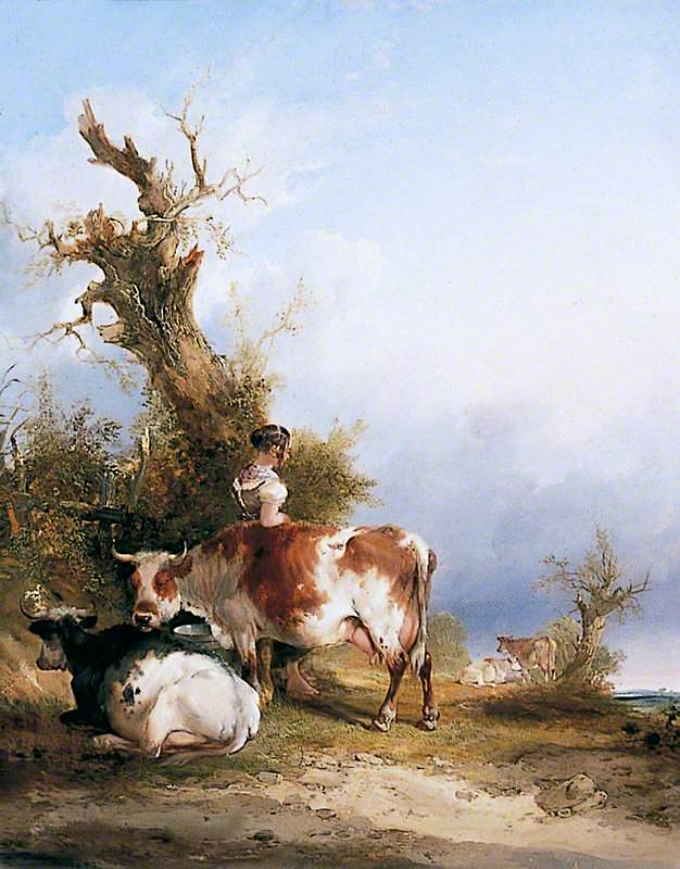 Milking Time | William Shayer Snr | oil painting