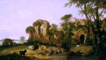 Netley Abbey | William Shayer Snr | oil painting