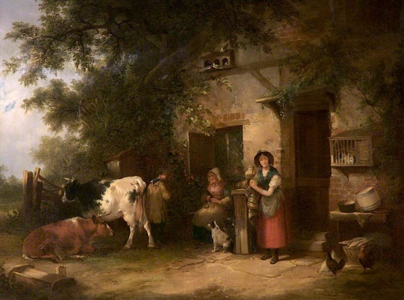 Old Farmyard Scene | William Shayer Snr | oil painting