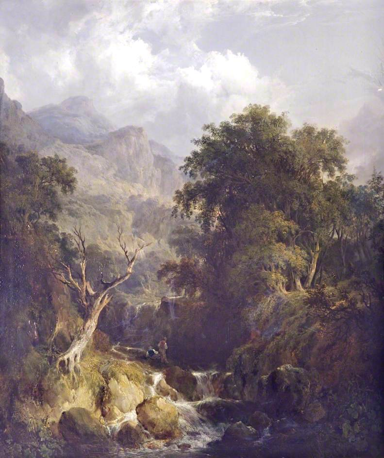 Plinlimmon and the Sources of the Wye | William Shayer Snr | oil painting