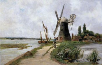The Mill beside the Stream | Clement Lambert | oil painting