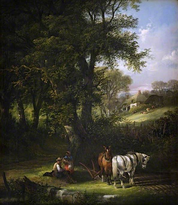 Ploughing | William Shayer Snr | oil painting