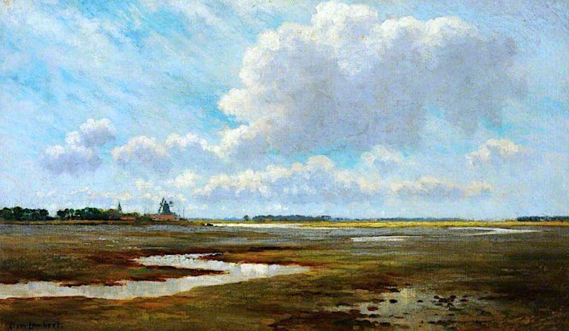 A Marshland   Clement Lambert   oil painting