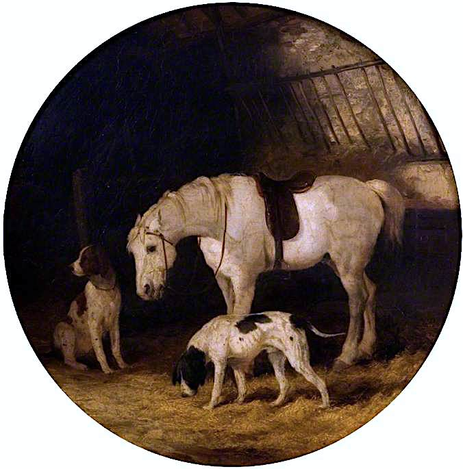 Pony and Dogs | William Shayer Snr | oil painting