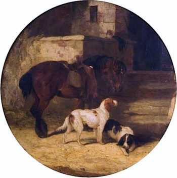Pony and Hounds | William Shayer Snr | oil painting