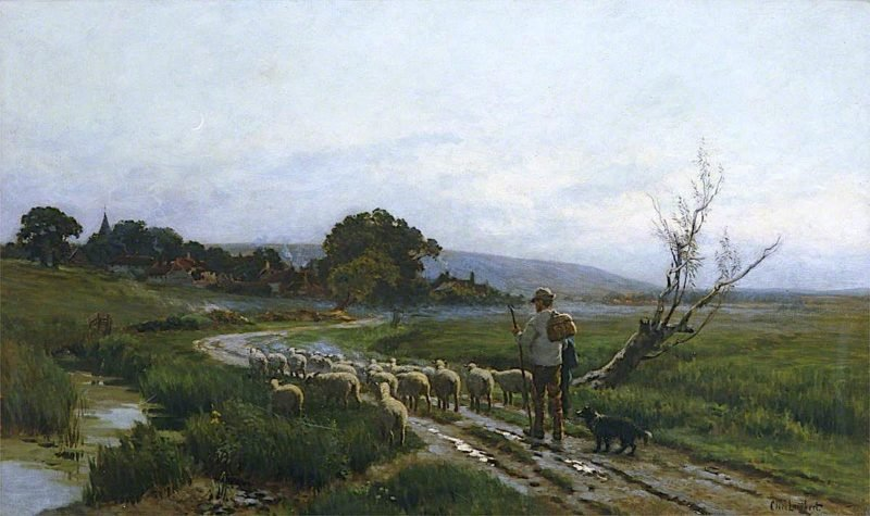 Home to the Fold   Clement Lambert   oil painting