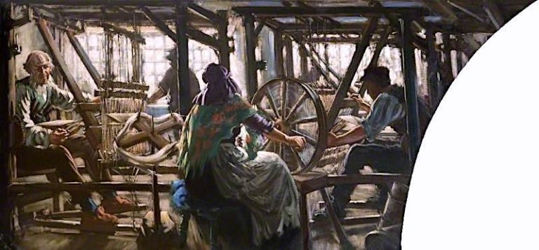 A Weaving Shop | Francis Henry Newbery | oil painting