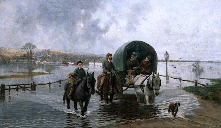Bramber Flooding | Clement Lambert | oil painting