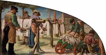 A Yarn Barton | Francis Henry Newbery | oil painting