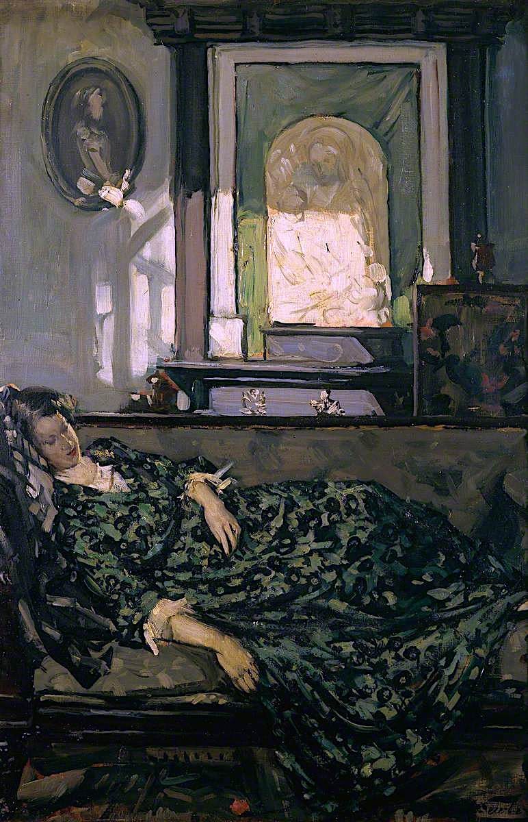 Daydreams   Francis Henry Newbery   oil painting
