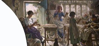 Net Braiding | Francis Henry Newbery | oil painting