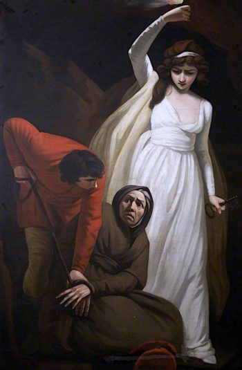 Gil Blas Binds Leonarda to the Leg of a Table | John Opie | oil painting