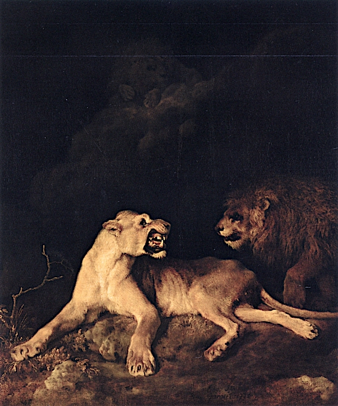 A Den of Lions | George Stubbs | oil painting