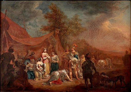 Alexander and the Family of Darius | Johann Georg Platzer | oil painting