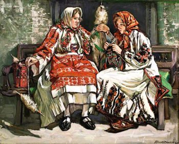 Serbian Women | Francis Henry Newbery | oil painting