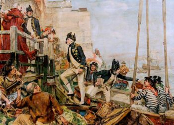 Lord Nelson Arriving at Portsmouth from Spithead | Arthur McCormick | oil painting